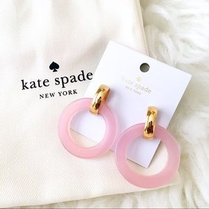 ♠️ Kate Spade Slice of Stone Blush hoop Earrings